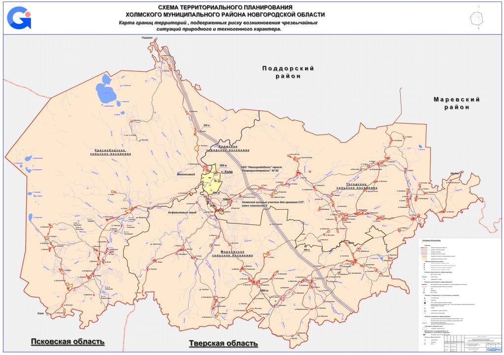 Карта границ территорий