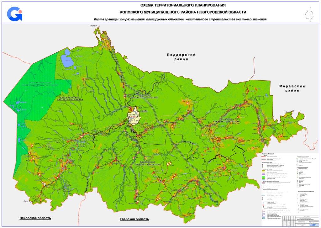 Карта границы размещения